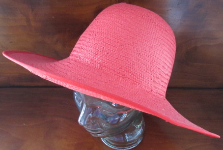 9444809afef Ladies Teen Victorian Red Straw Hat Society Dress Up Tea Party ...