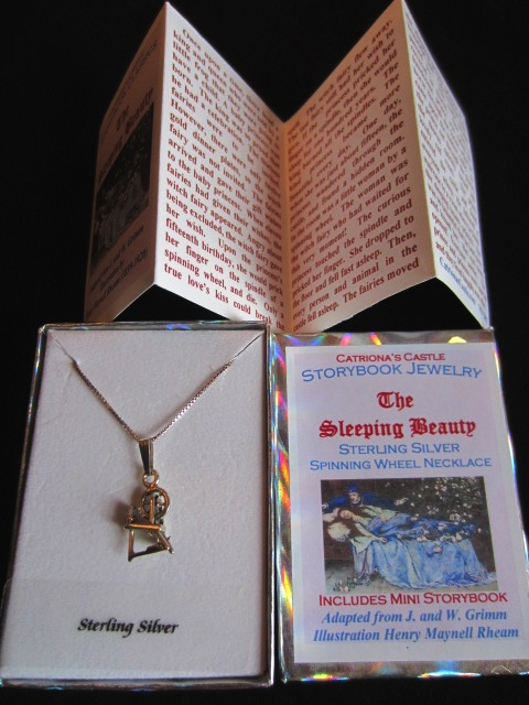 The Sleeping Beauty Sterling Silver Spinning Wheel Charm